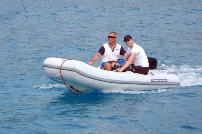 Dinghy ride St Barths
