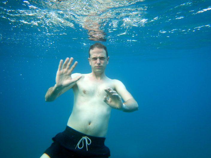 Heerlijk zwemmen in warm water